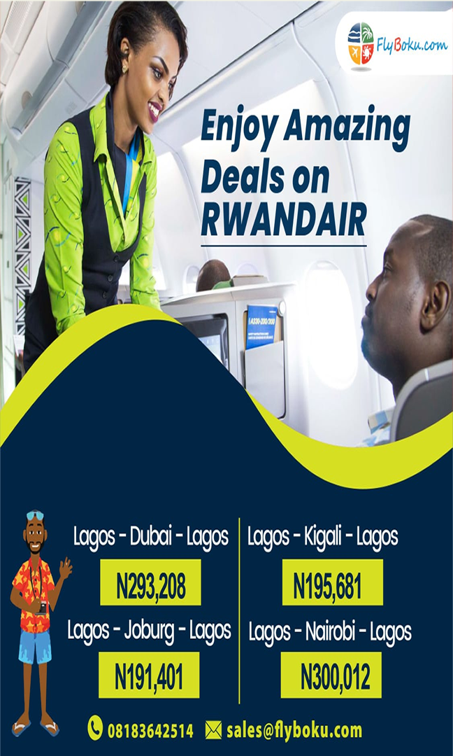 Amazing deals on Rwand Air